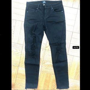 Just Black distressed skinny jeans